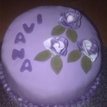 Geburtstagstorte mit Rosen